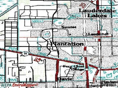 Plantation topographic map