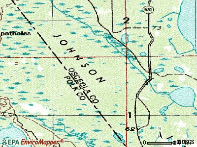 Poinciana topographic map