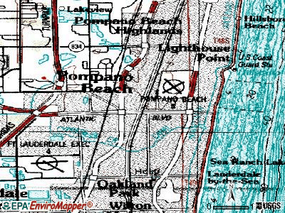 Pompano Beach topographic map
