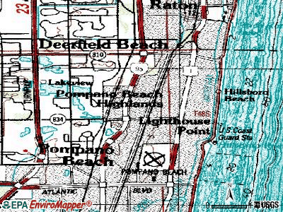 Pompano Estates topographic map