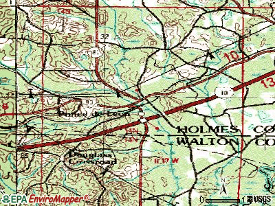 Ponce de Leon topographic map