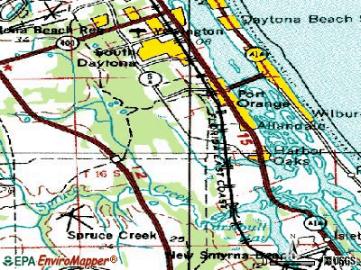 Port Orange topographic map