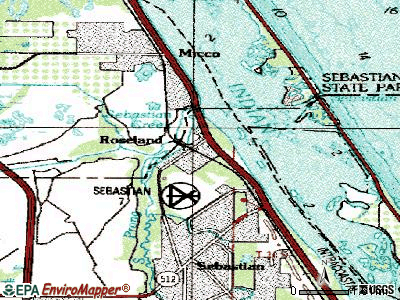 Roseland topographic map