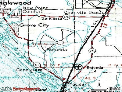 Rotonda topographic map