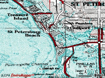St. Pete Beach topographic map