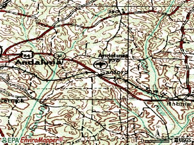 Sanford topographic map