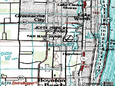 Seminole Manor topographic map