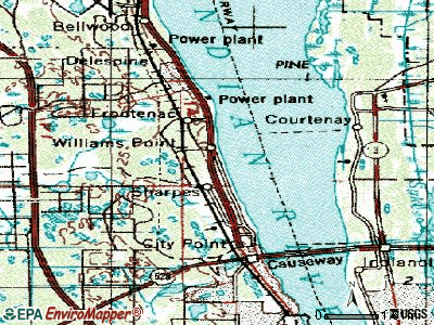Sharpes topographic map