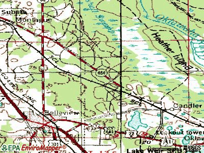Silver Springs Shores topographic map