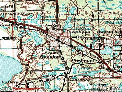 South Apopka topographic map