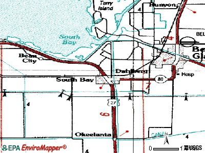 South Bay topographic map