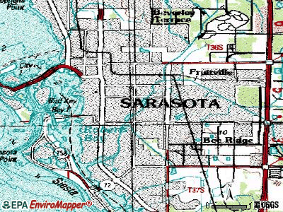 South Daytona topographic map