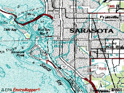 South Sarasota topographic map