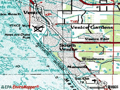 South Venice topographic map