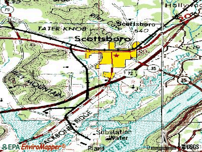 Scottsboro topographic map