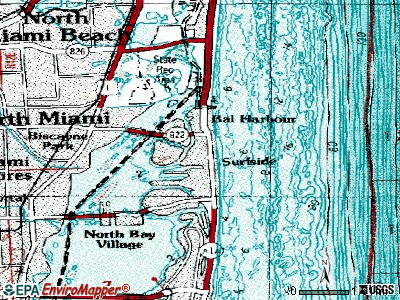 Surfside topographic map