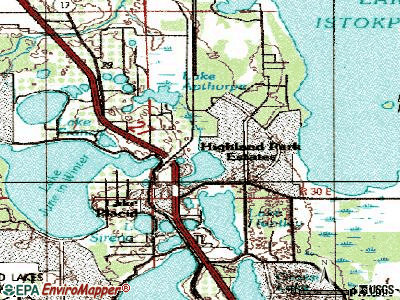 Sylvan Shores topographic map
