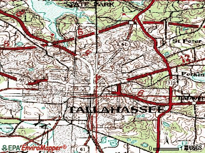Tallahassee topographic map