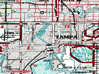 Tampa topographic map