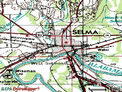 Selma topographic map