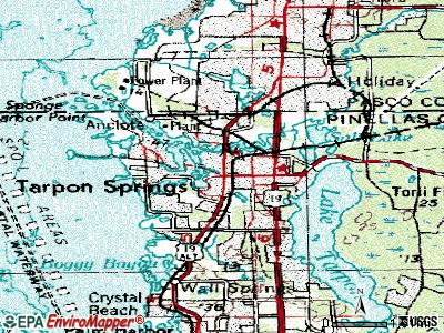 Tarpon Springs topographic map