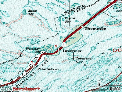 Tavernier topographic map