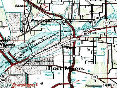 Tice topographic map