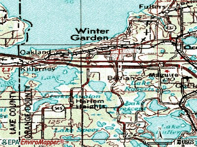 Tildenville topographic map
