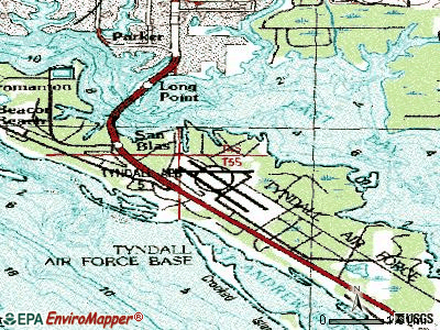 Tyndall AFB topographic map
