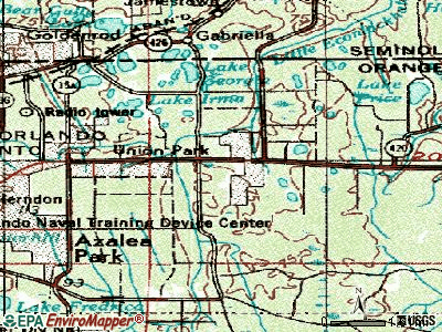 Union Park topographic map