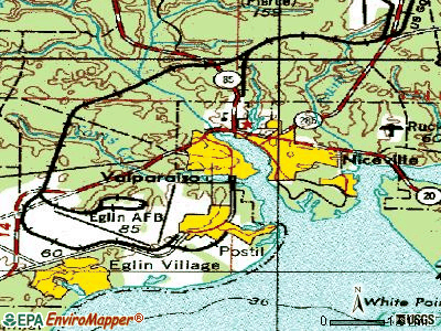 Valparaiso topographic map