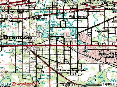 Valrico topographic map