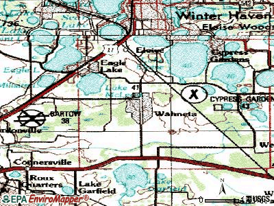 Wahneta topographic map