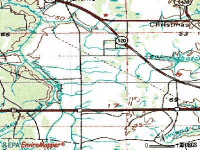 Wedgefield topographic map
