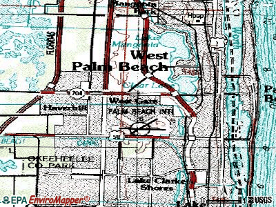 Westgate-Belvedere Homes topographic map
