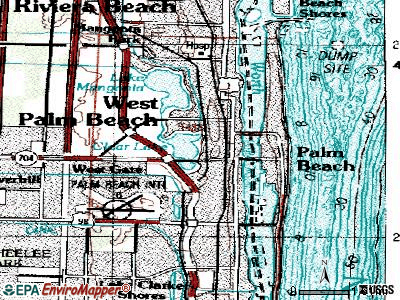 West Palm Beach topographic map