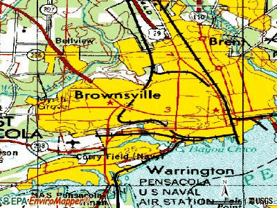 West Pensacola topographic map