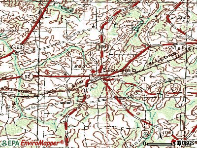 Slocomb topographic map