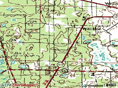Williston Highlands topographic map