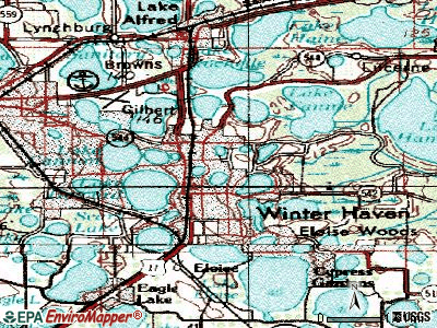 Winter Haven topographic map