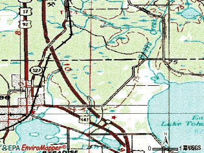 Yeehaw Junction topographic map