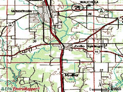 Zolfo Springs topographic map