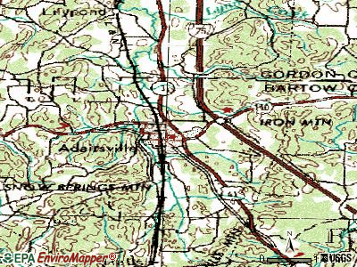 Adairsville topographic map