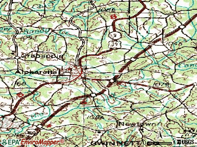 Alpharetta topographic map