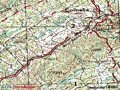 Alto topographic map