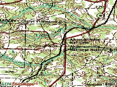 Andersonville topographic map