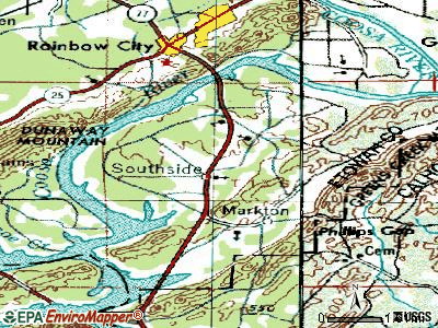 Southside topographic map