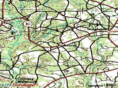 Avera topographic map
