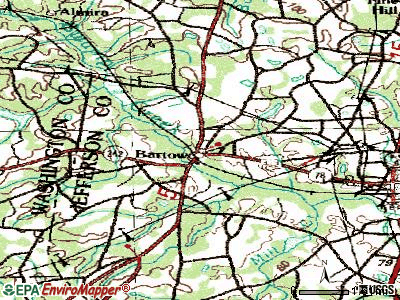 Bartow topographic map