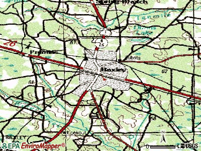 Baxley topographic map